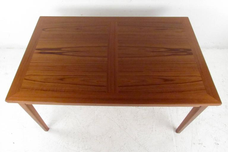 Brilliant Teak Dining Table Mid Century Skov Teak Dining Table And Six Od Mobler Chairs For