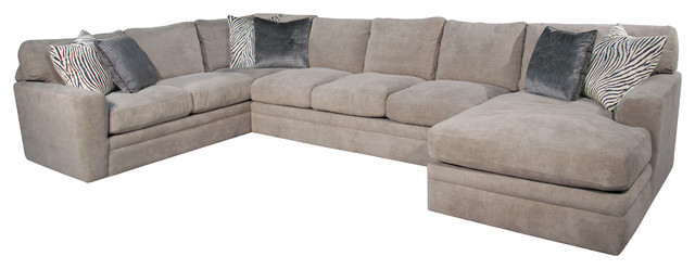 Brilliant Three Piece Sectional Couch Seville 3 Piece Sectional Transitional Sectional Sofas