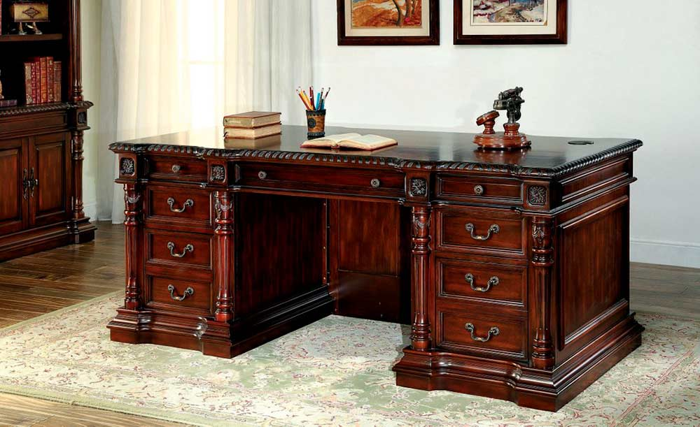 Brilliant Traditional Office Furniture Traditional Cherry Office Desk Fa252 Desks