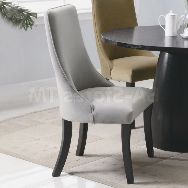 Brilliant Upholstered Dining Chairs With Black Legs Dining Room Velvet High Back Dining Room Chairs With Comfy