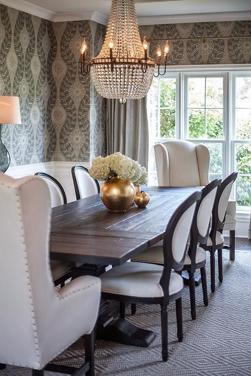 Brilliant Upholstered Dining End Chairs Best 25 Mixed Dining Chairs Ideas On Pinterest Black Kitchen