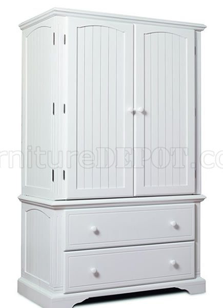 Brilliant White Armoire With Drawers Satin White Finish Two Door Armoire With Two Extra Drawers