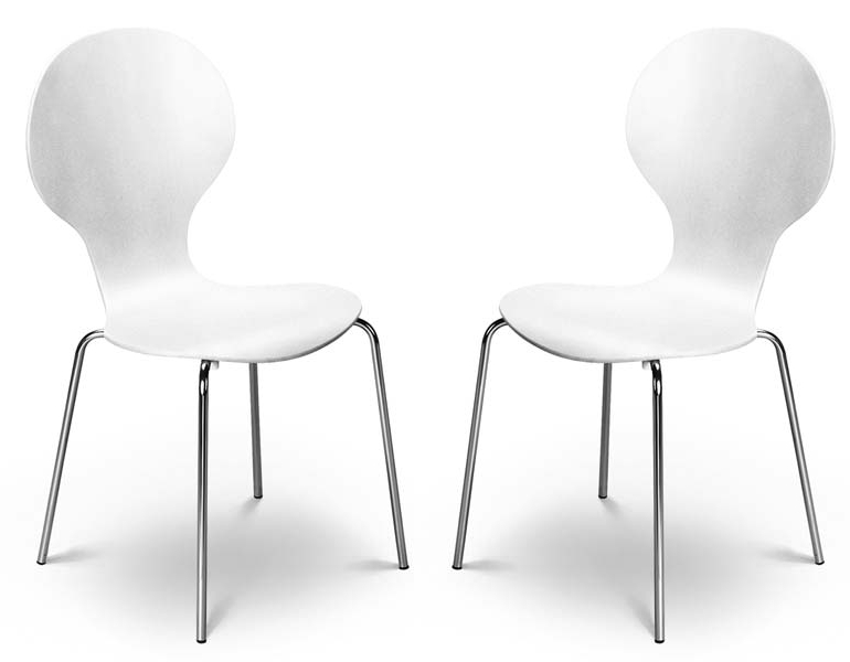 Brilliant White Dining Chairs Kimberley White Chrome Dining Chairs Sale Now On Your Price