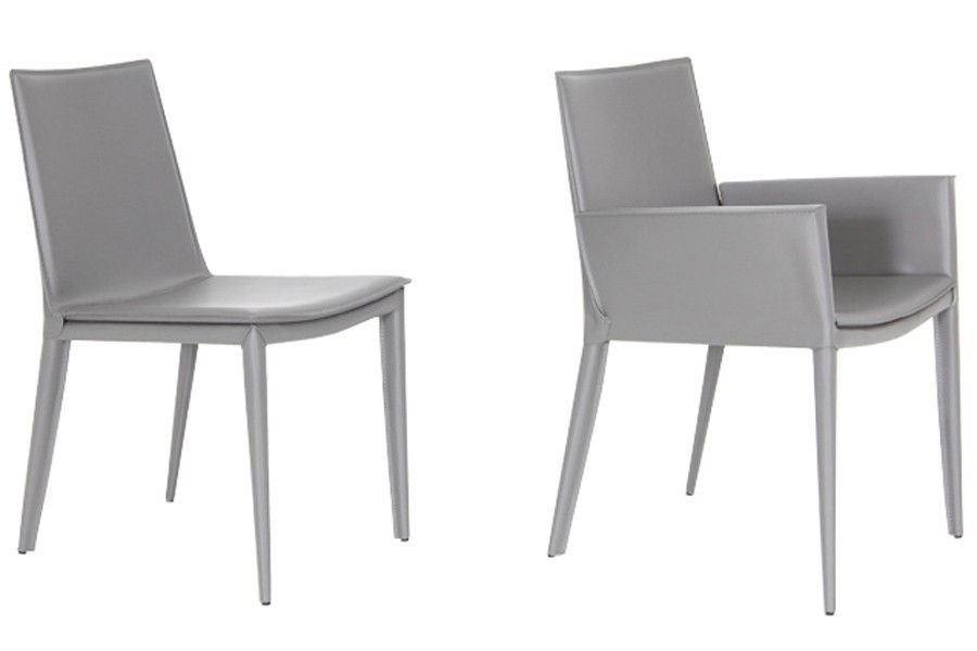 Brilliant White Leather Dining Chairs With Arms Tiffany Arm Chair Viesso