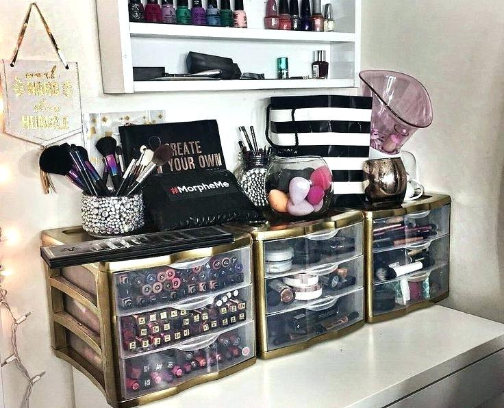 Brilliant White Makeup Vanity With Storage White Makeup Vanity And Storage Ikea Linnmon Alex Best Ideas About