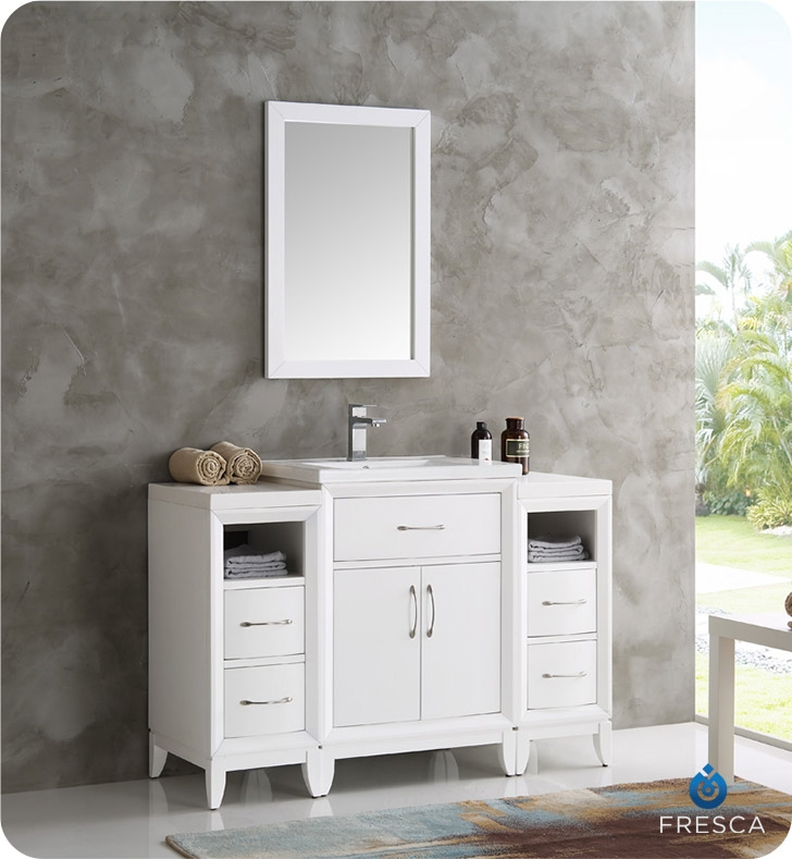 Brilliant White Vanity With Mirror Bathroom Vanities Buy Bathroom Vanity Furniture Cabinets Rgm