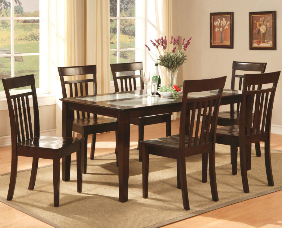 Brilliant Wood And Glass Dining Table Designs Dining Room Classic Dining Table Design With Rectangular Glass