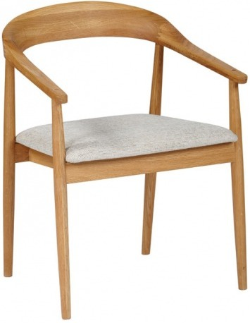 Brilliant Wooden Dining Chairs With Arms The Fifties Dining Chair With Arms Oak Dining Chairs