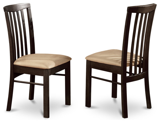 Brilliant Wooden Dining Chairs With Padded Seats Set Of 2 Hartland Dining Room Chair Transitional Dining Chairs