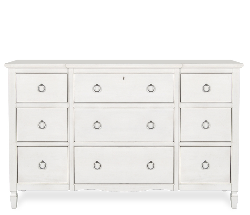 Chic 15 Inch Wide Dresser Bedroom Sutton 9 Drawer Dresser Pbteen White Lilac Furniture