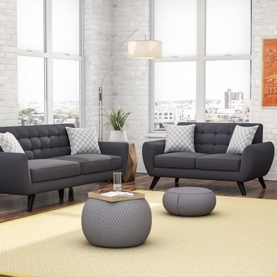 Chic 2 Piece Living Room Furniture Mercury Row Carlson 2 Piece Living Room Set Reviews Wayfair