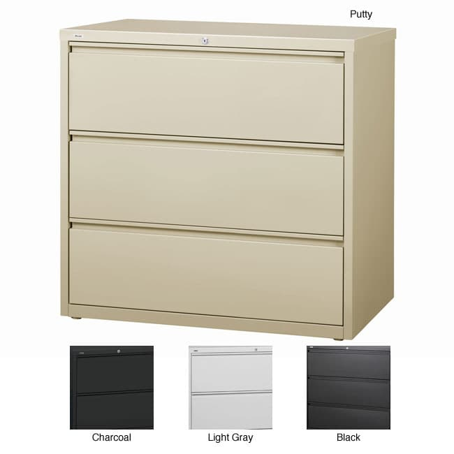 Chic 3 Drawer Lateral File Cabinet Metal Hirsh Hl10000 Series 42 Inch Wide 3 Drawer Commercial Lateral File