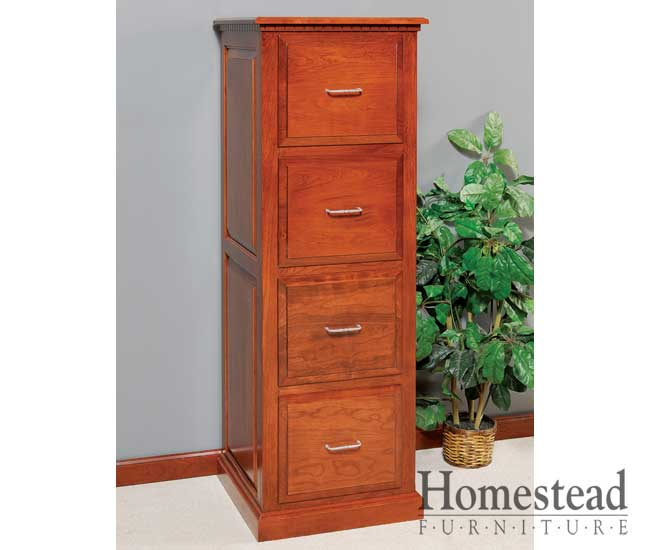 Chic 4 Drawer Wood File Cabinet Custom Built Hardwood Furniture Homestead Furniture Made In Usa