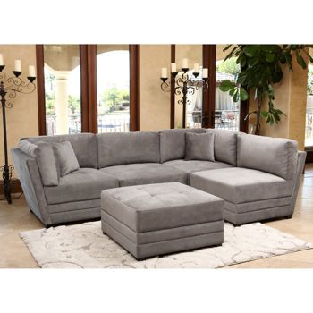 Chic 5 Piece Sectional Couch Leyla 5 Piece Fabric Modular Sectional Costco Living Room