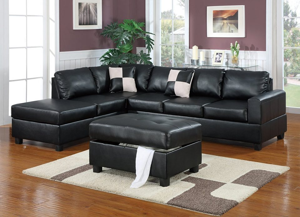 Chic 5 Piece Sectional Couch Sofa Navy Blue Sectional Leather Sofa 5 Piece Sectional Sofa L