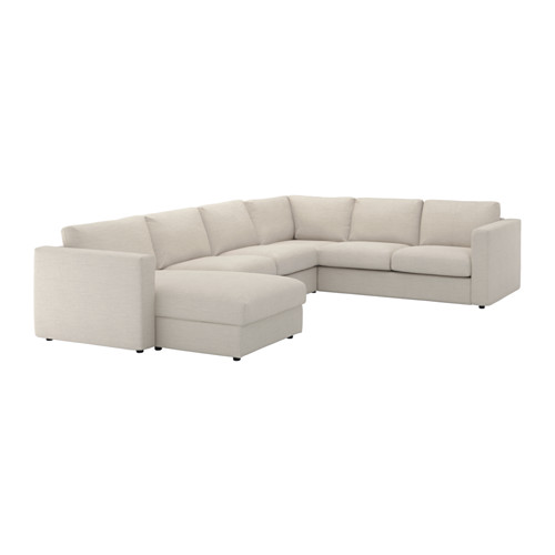 Chic 5 Seat Sectional Sofa Vimle Sectional 5 Seat Corner With Chaisegunnared Beige Ikea