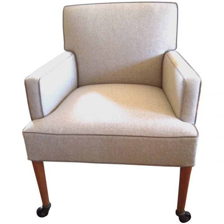 Chic Accent Chair With Wheels Desks Custom Upholstered Side Chairs School Desk Chair Combo