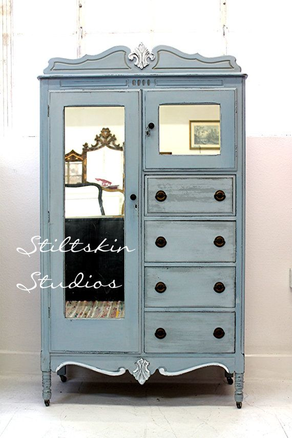 Chic Armoire Dresser With Mirror 290 Best Painted Buffets Hutches Credenzas Images On Pinterest