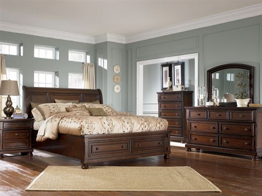 Chic Ashley Furniture Bed Sets Porter Bedroom Set Porter Queen Sleigh Storage Bedroom Set Ashley