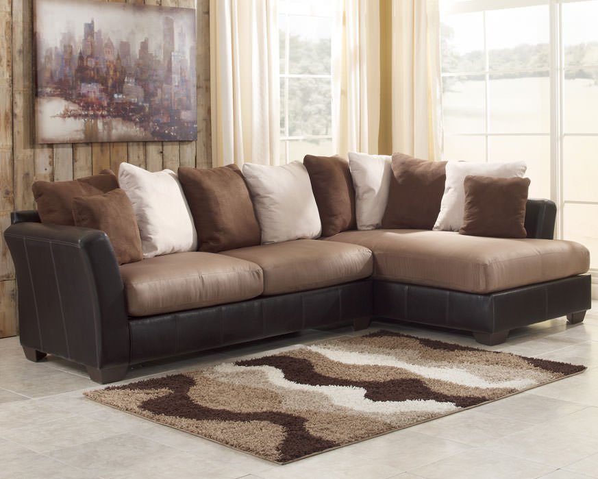 Chic Ashley Furniture Beige Sectional Masoli Mocha Sectional Sofa Set Signature Design Ashley Furniture