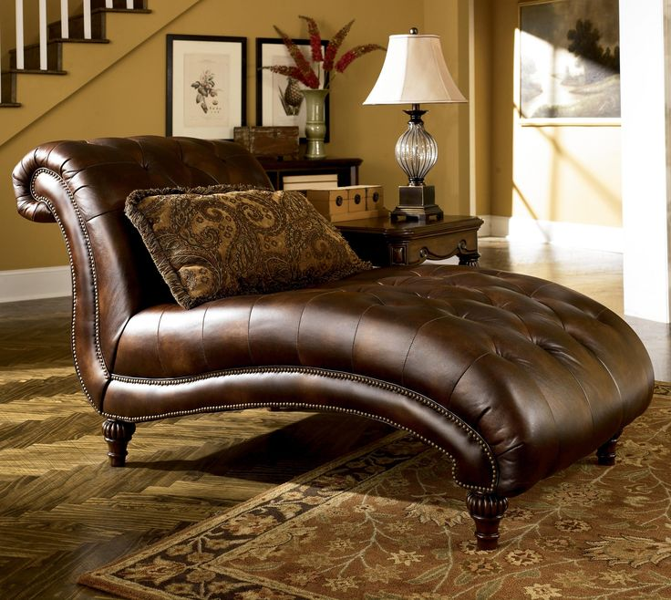 Chic Ashley Furniture Chaise Lounge Claremore Antique Traditional Chaise With Nailhead Trim