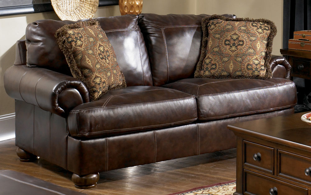 Chic Ashley Furniture Leather Couch And Loveseat Axiom Walnut Loveseat Ashley Furniture Tenpenny Furniture
