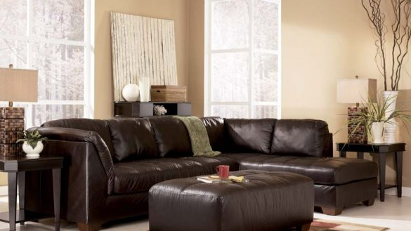 Chic Ashley Furniture Microfiber Sectional Ashley Furniture Sectional Sofa Roselawnlutheran Within Sofas At