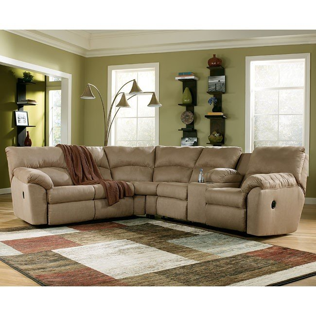 Chic Ashley Furniture Reclining Sectional Amazon Mocha Reclining Sectional Signature Design Ashley