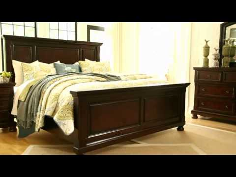 Chic Ashley King Platform Bed Porter Queen Panel Bed Ashley Furniture Homestore