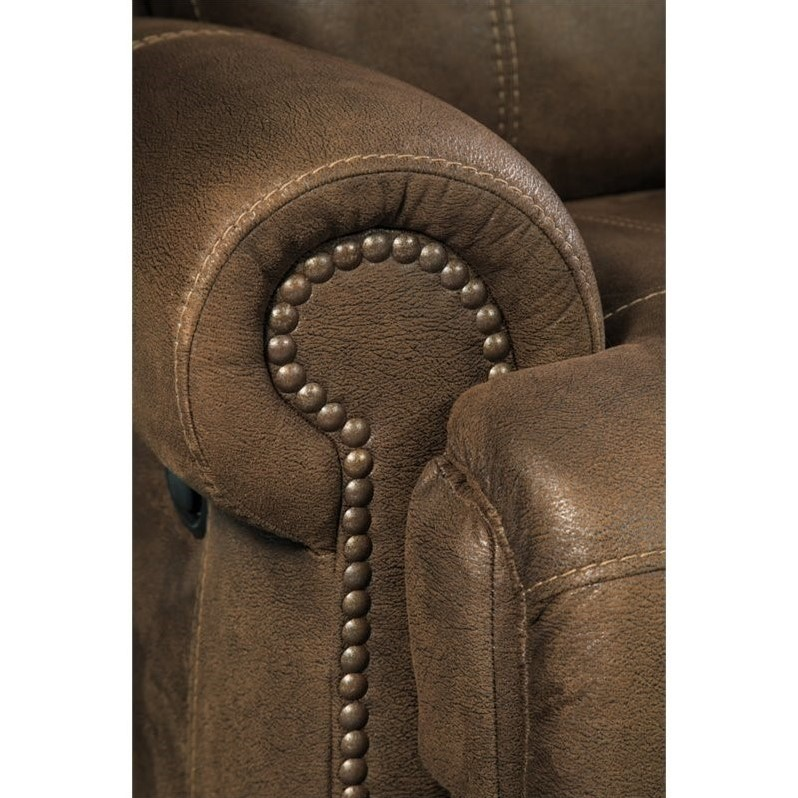 Chic Ashley Signature Leather Reclining Sofa Ashley Austere 2 Seat Faux Leather Reclining Sofa In Brown 3840081