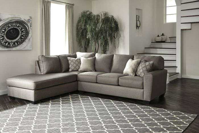 Chic Ashley Two Piece Sectional Signature Design Ashley Calicho Cashmere 2 Piece Sectional Sofa