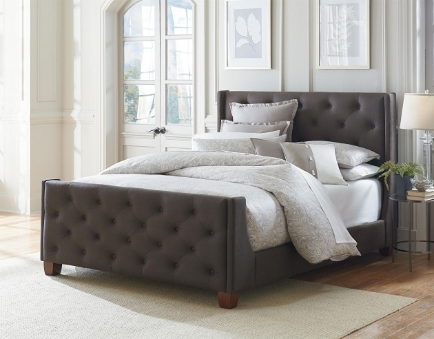 Chic Bed Headboards And Footboards Set Bedroom Diva Upholstered Twin Bed With Headboard Footboard Purple