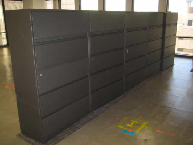 Chic Big Filing Cabinets 42 5 Drawer Lateral File Cabinet Steelcase 900 Series