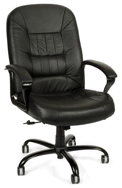 Chic Black Desk Chair Big Tall Black Leather Swivel Desk Chair W Padded Arms