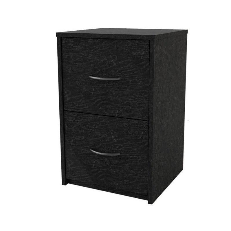 Chic Black Wood File Cabinet With Lock File Cabinets Walmart