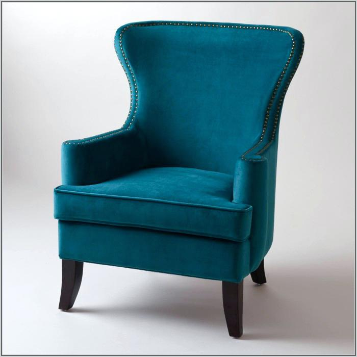 Chic Blue Accent Chair With Ottoman Blue Accent Chair Aeui