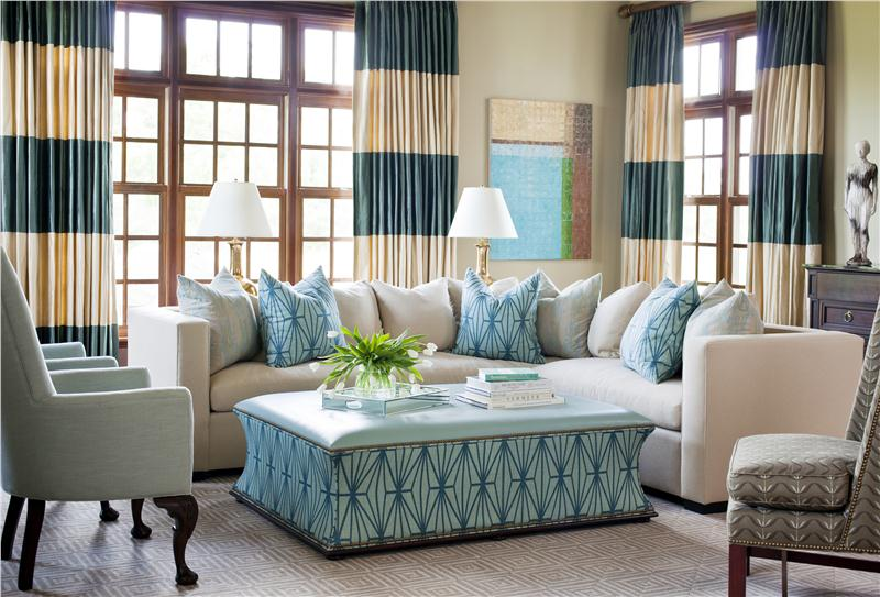 Chic Blue Accent Chairs For Living Room Contemporary Living Family Room Tobi Fairley