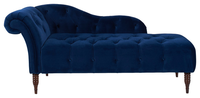 Chic Blue Chaise Lounge Indoor Chaise Longue Blue Thesecretconsul