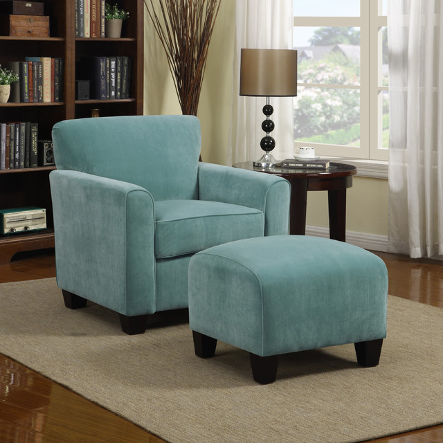 Chic Blue Oversized Chair And Ottoman Chairs Amusing Accent Chairs With Ottomans Accent Chairs With