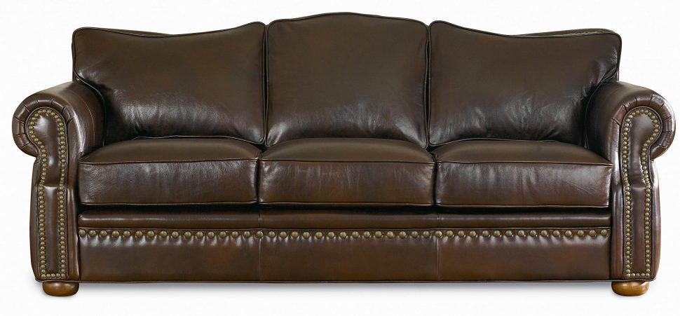 Chic Brown Leather Couch With Studs Sofa Sleeper Sofas Brown Leather Sofa Couch Furniture Sofa Beds