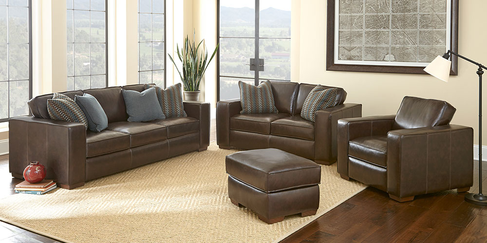 Chic Brown Leather Living Room Set Living Room Sets Costco