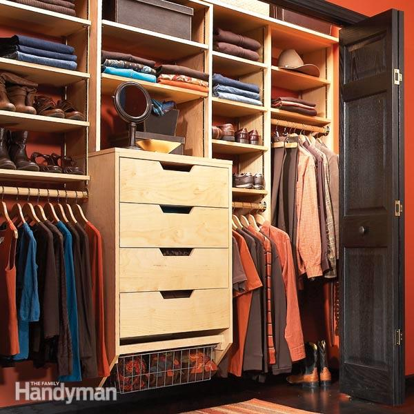 Chic Build Your Own Custom Closet Closet Organizers Storage The Family Handyman