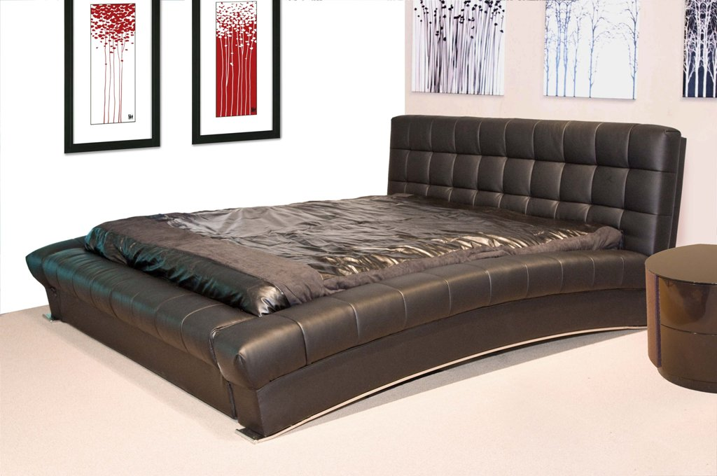 Chic California King Platform Bed Frame Leather California King Platform Bed Frames Comfortable