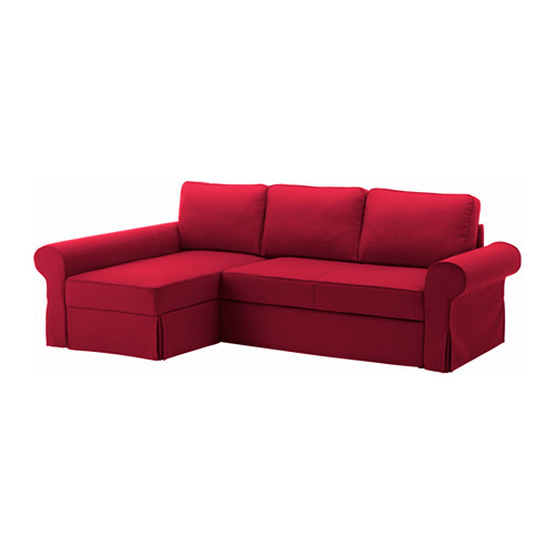 Chic Chaise Longue Sofa Bed Backabro Sofa Bed With Chaise Longue Nordvalla Red Ikea