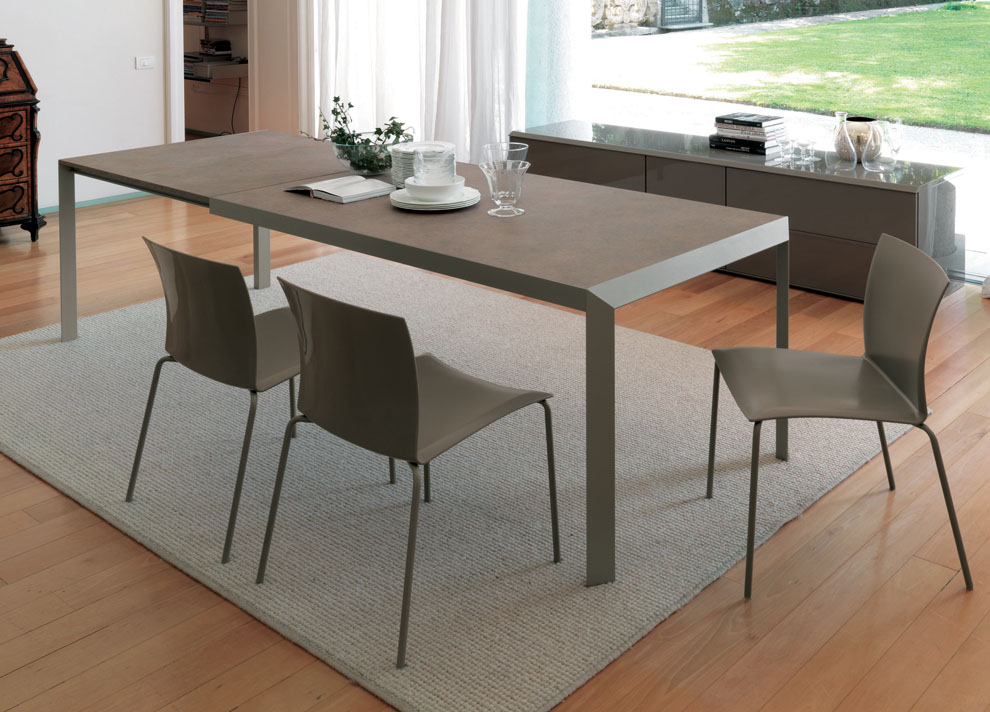 Chic Contemporary Dining Tables Extendable Izac Extending Dining Table Contemporary Extending Dining Tables