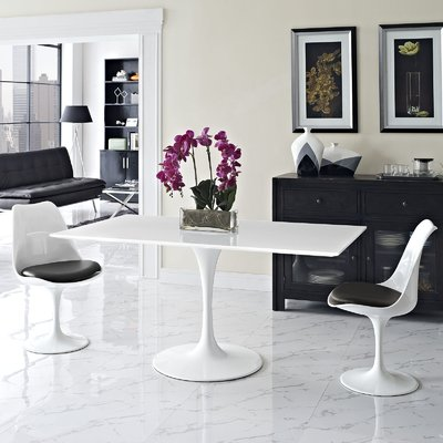 Chic Contemporary Rectangular Dining Table Langley Street Julien Contemporary Rectangular Dining Table