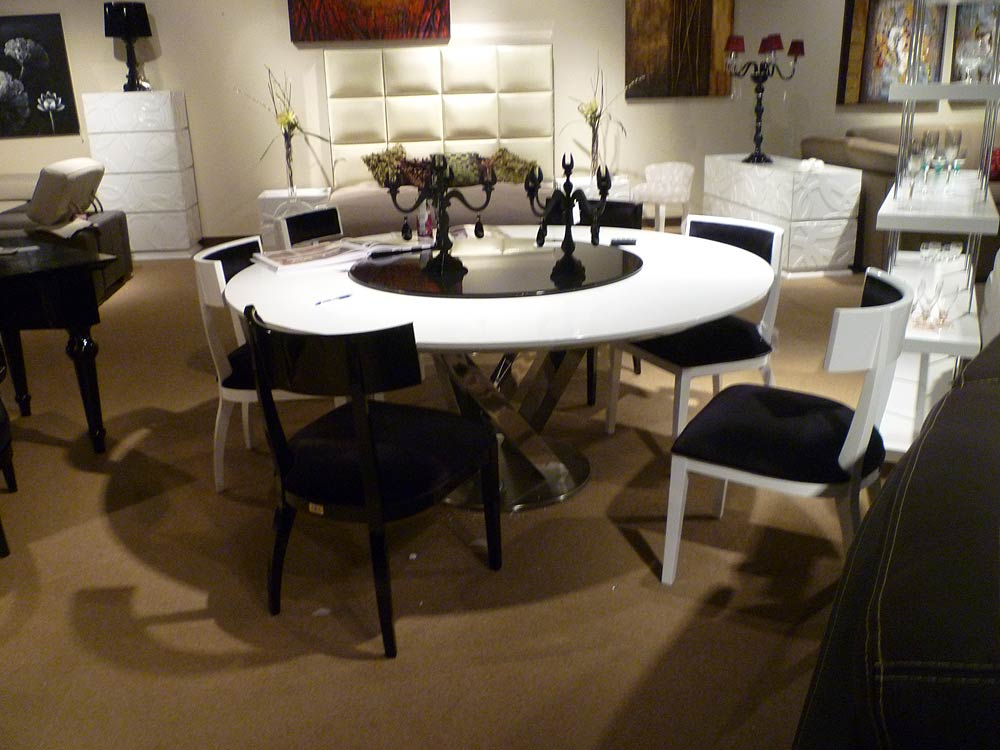 Chic Contemporary Round Dining Table For 8 Contemporary Dining Table Set Vg83 Modern Dining