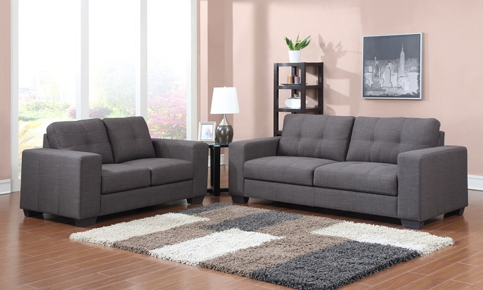 Chic Contemporary Sofa And Loveseat Contemporary Sofa Loveseat Set Groupon Goods