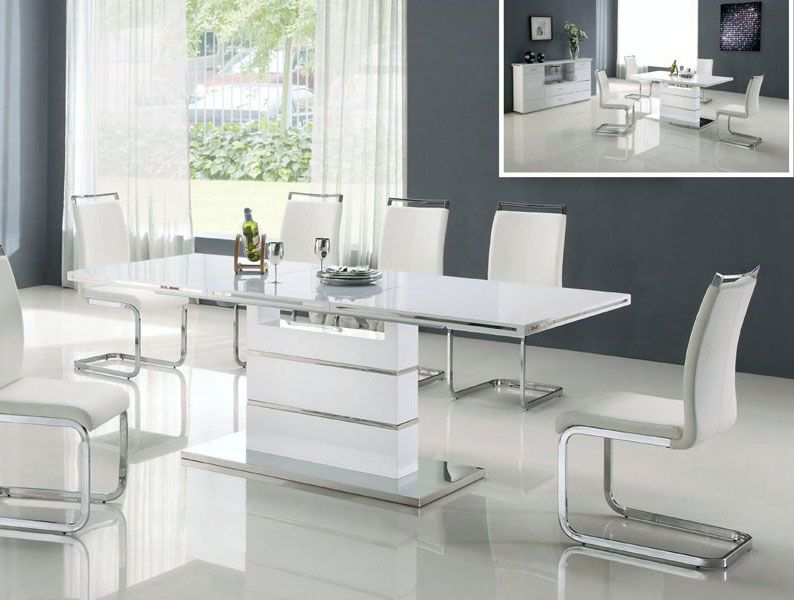 Chic Contemporary White Table White Modern Dining Table Modern Home Design