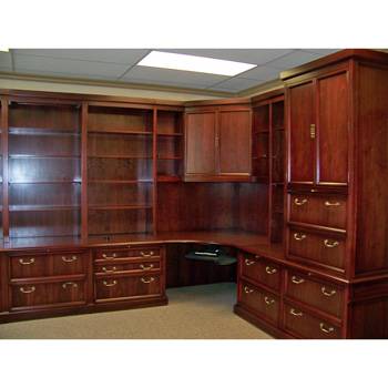 Chic Corner Office Furniture Traditional Style Custom Wood Corner Office Furniture Desk